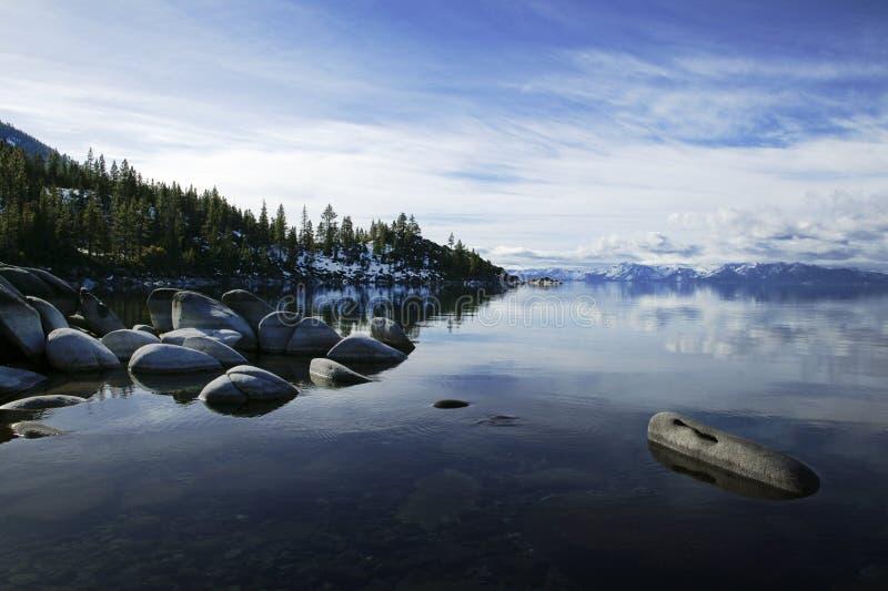 Rivage est Lake Tahoe photo libre de droits