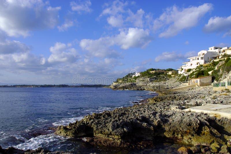 Rivage sicilien photographie stock