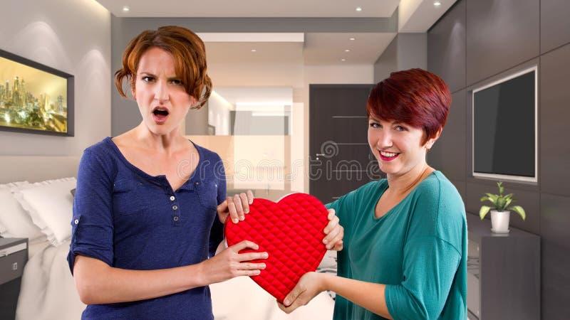 Rivales del amor imagen de archivo libre de regalías