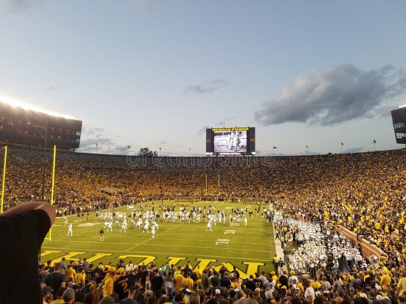 Rivalidade do futebol de Michigan fotos de stock royalty free
