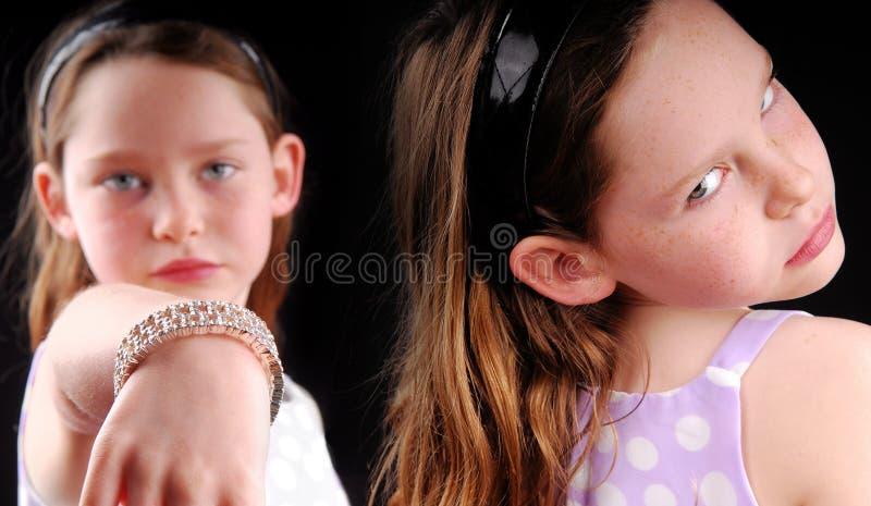 Rivalidade entre meninas imagens de stock
