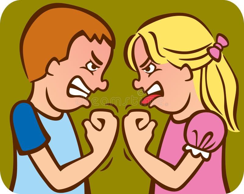 Rivalité d'enfant de mêmes parents illustration stock