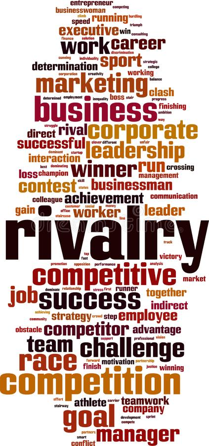 Rivalry word cloud vector illustration
