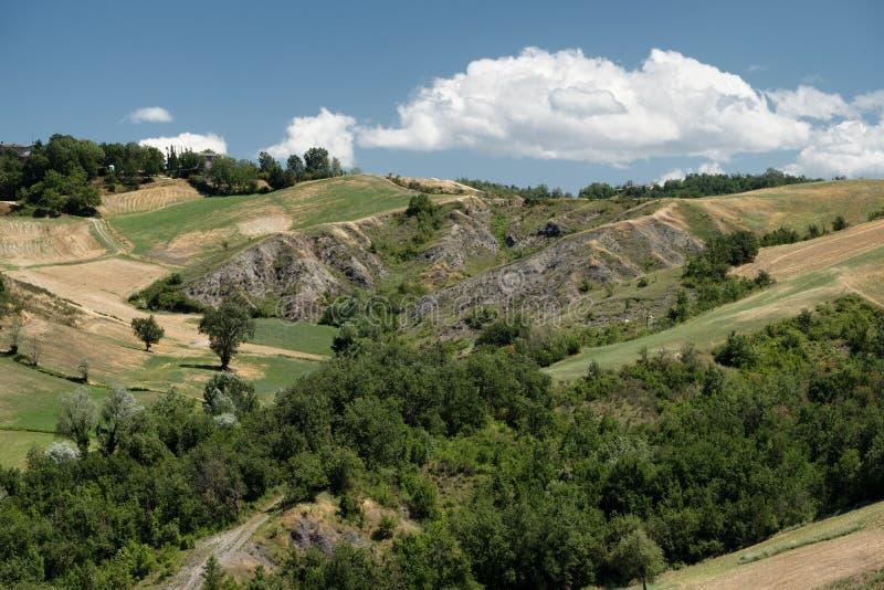 Rivalta Di Lesignano Πάρμα, Ιταλία: θερινό τοπίο στοκ εικόνες