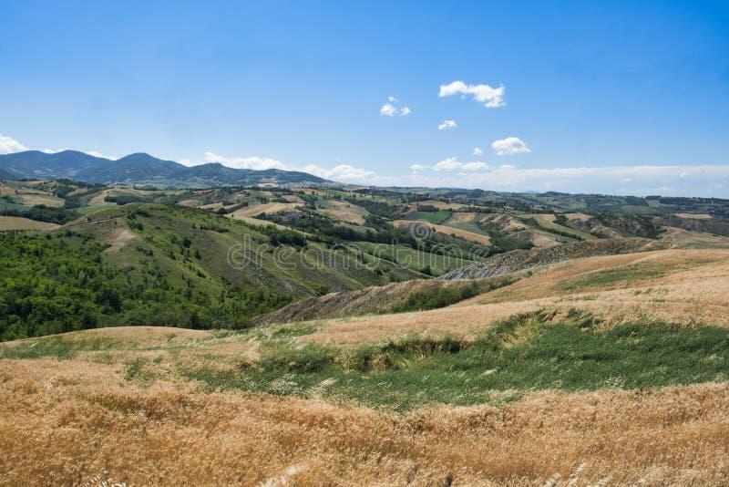 Rivalta Di Lesignano Πάρμα, Ιταλία: θερινό τοπίο στοκ εικόνα με δικαίωμα ελεύθερης χρήσης