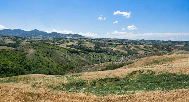 Rivalta Di Lesignano Πάρμα, Ιταλία: θερινό τοπίο στοκ φωτογραφίες με δικαίωμα ελεύθερης χρήσης
