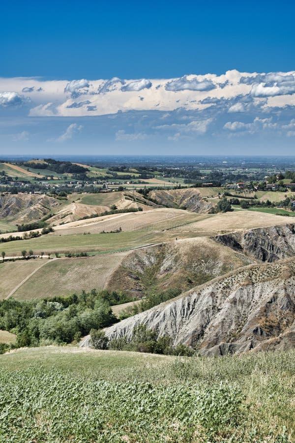 Rivalta Di Lesignano Πάρμα, Ιταλία: θερινό τοπίο στοκ εικόνες με δικαίωμα ελεύθερης χρήσης