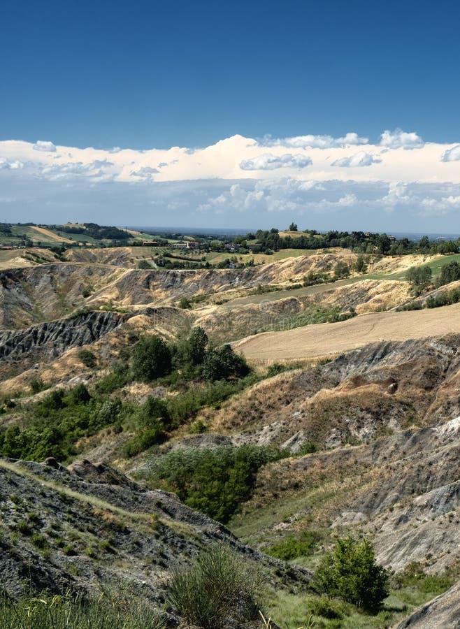 Rivalta Di Lesignano Πάρμα, Ιταλία: θερινό τοπίο στοκ φωτογραφία με δικαίωμα ελεύθερης χρήσης
