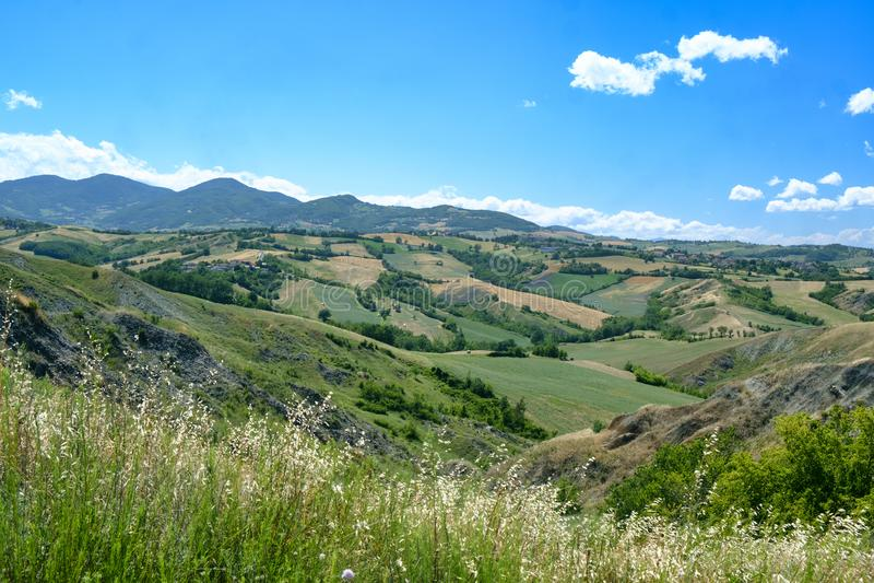 Rivalta Di Lesignano Parma, Włochy: lato krajobraz zdjęcia royalty free
