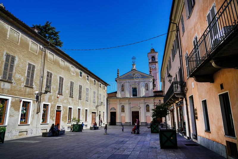 Church of the Confraternity of San Rocco and San Carlo of Rivarolo stock images