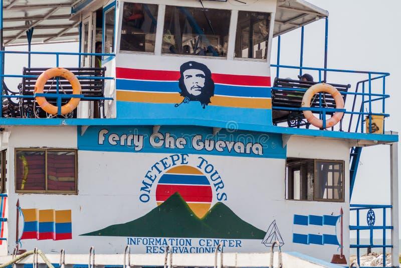 RIVAS, NICARAGUA - 1. MAI 2016: Fähren-Che Guevara Lago Cocibolca Nicaragua See zu Ometepe-Insel, Nicarag stockbilder