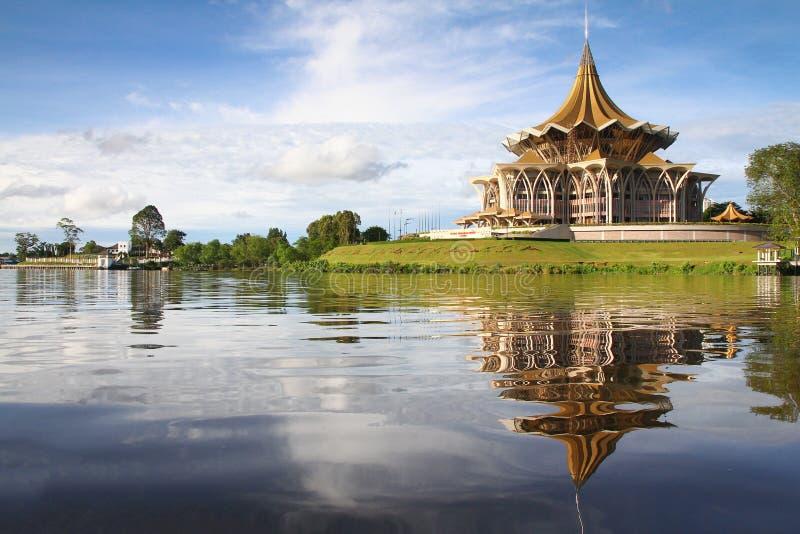 Rive de Kuching photo stock
