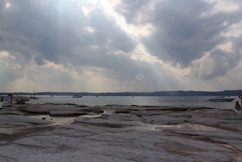 Rive della polizia del lago fotografia stock libera da diritti