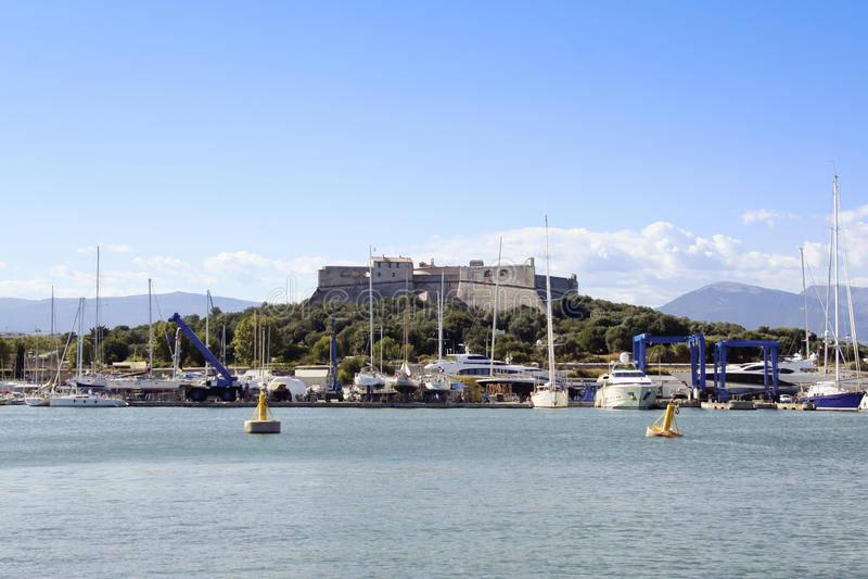 Riveiera de Français de carre de fort d'Antibes photo libre de droits