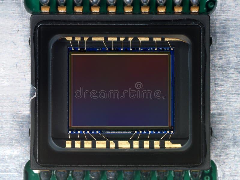 Rivelatore del CCD dalla macchina fotografica immagini stock