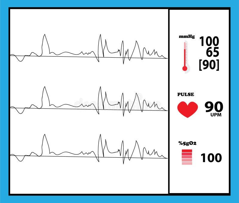 Rivelatore a macchina del monitor di salute illustrazione vettoriale
