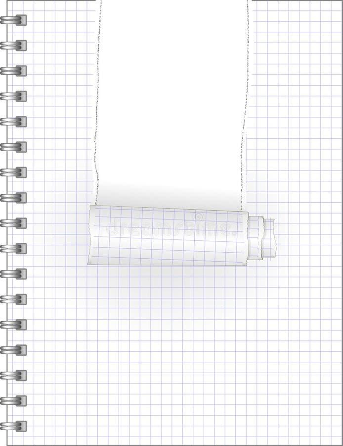 Riven anteckningsbok stock illustrationer