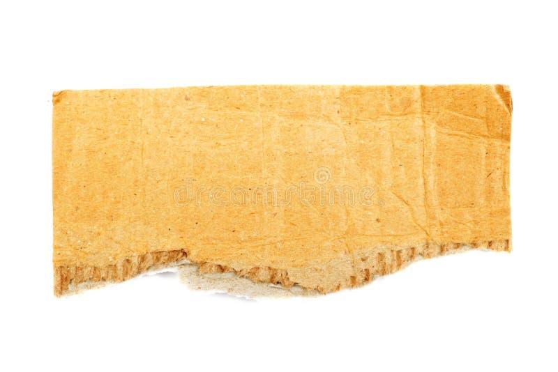 riven papp som isoleras royaltyfri fotografi