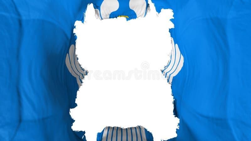 Riven sönder CIS flygflagga vektor illustrationer
