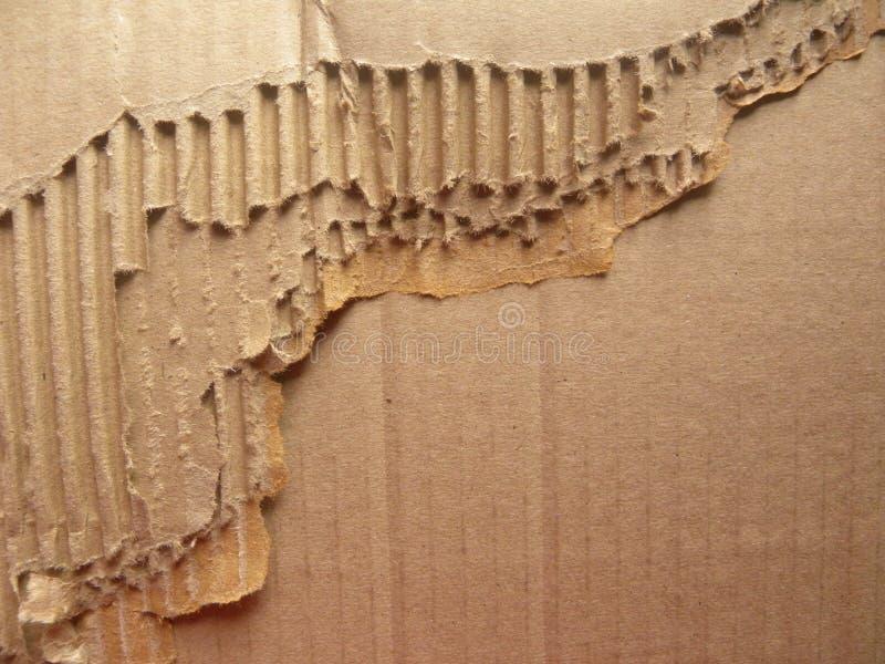 Riven sönder kartong arkivbild