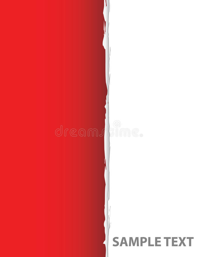 riven sönder paper red stock illustrationer