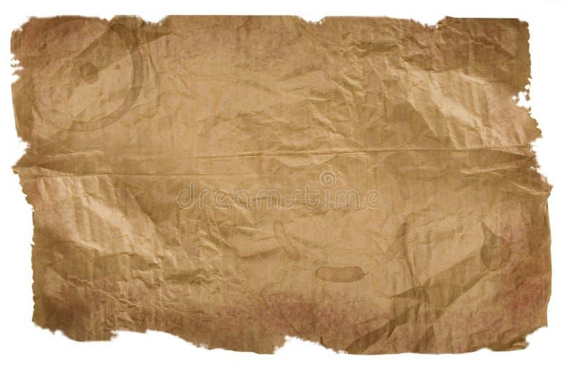 riven white för brunt papper stycke royaltyfri illustrationer