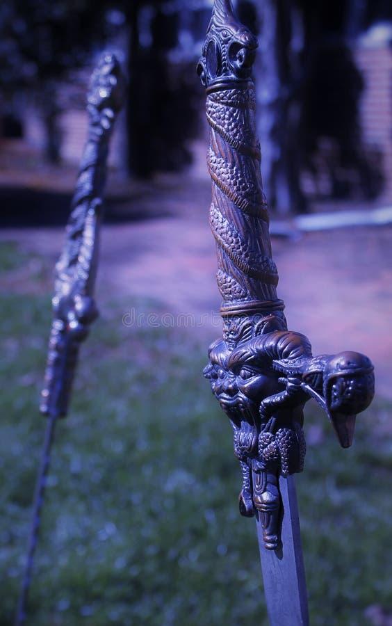 Rivendellduel royalty-vrije stock afbeeldingen