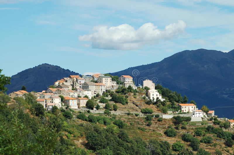 Riventosa village, Corsica royalty free stock photography