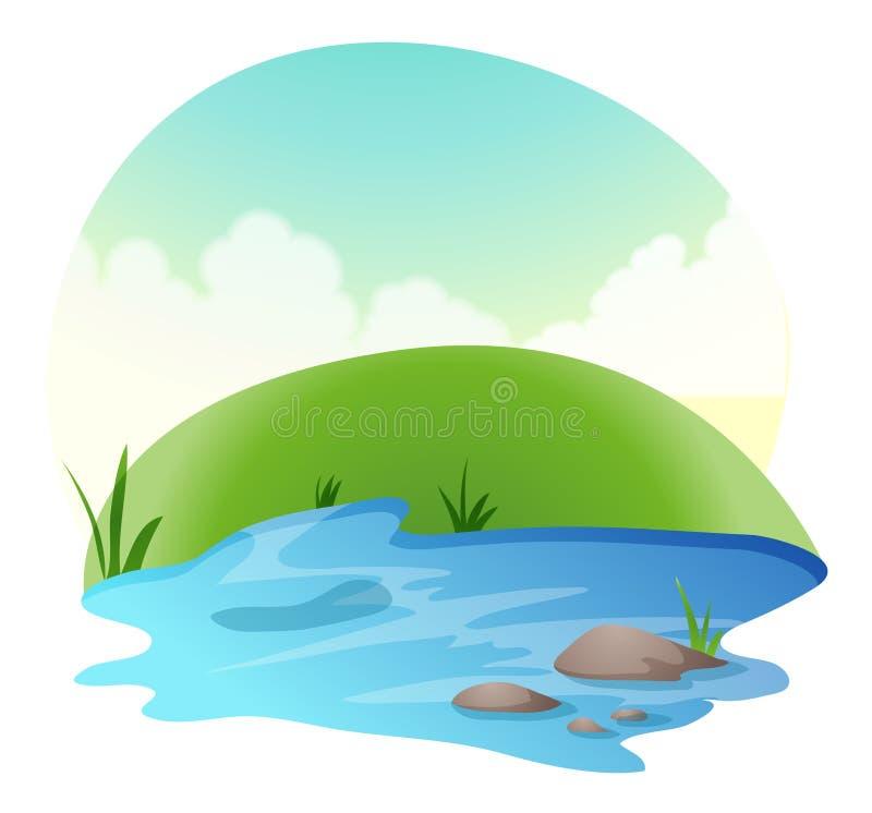 River royalty free illustration