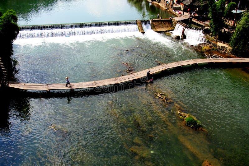 Download River stock photo. Image of hunan, bamboo, bridge, china - 27198066