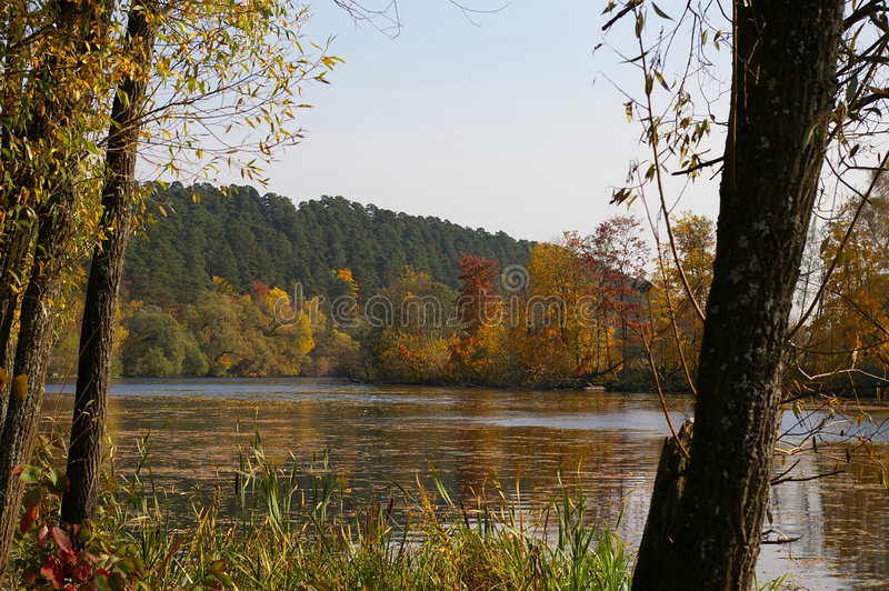The river. Moscow near to manor Arkhangelsk stock images