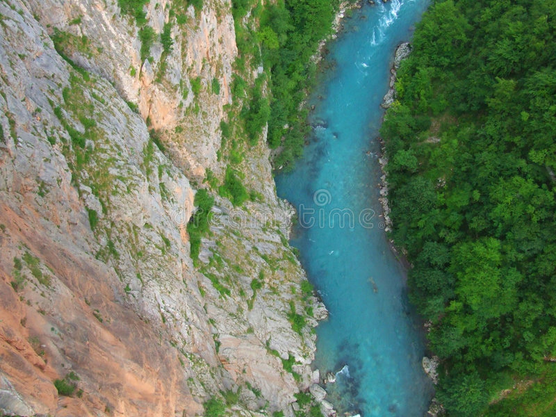 River. Tara in Montenegro royalty free stock images