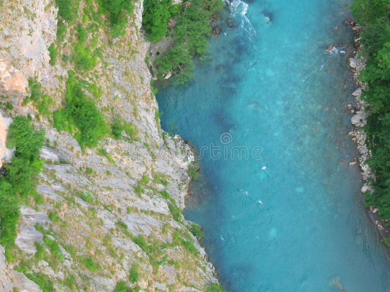 River. Tara in Montenegro royalty free stock photography