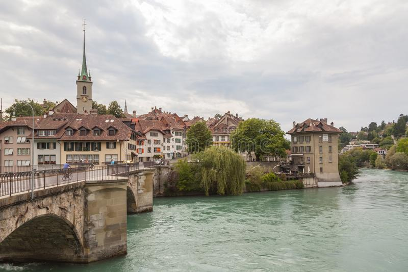 River Aare through Bern royalty free stock photography