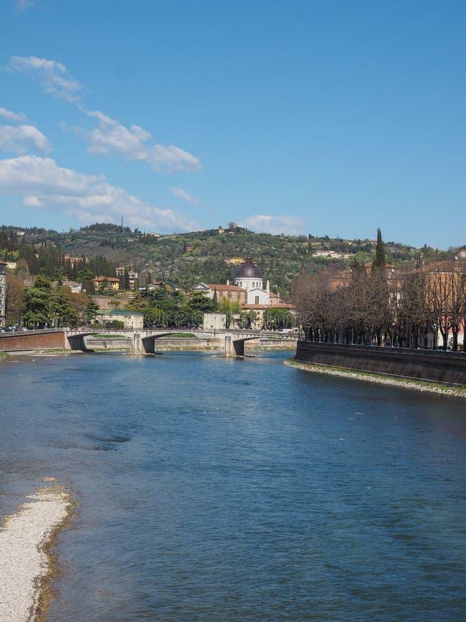 River Adige em Verona foto de stock royalty free