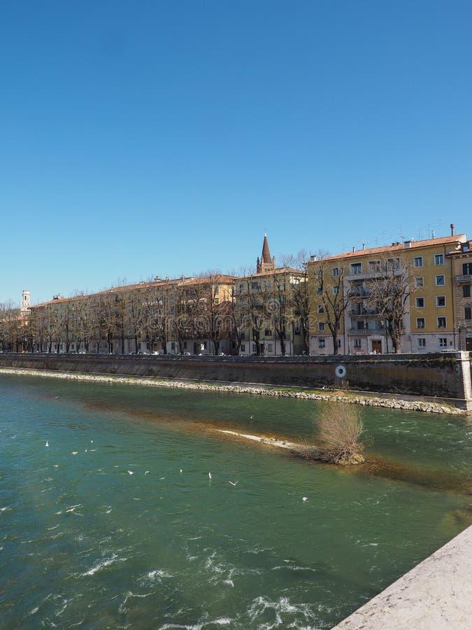 River Adige em Verona imagem de stock royalty free