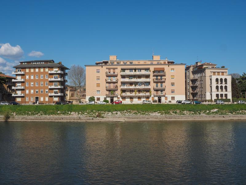 River Adige em Verona fotografia de stock