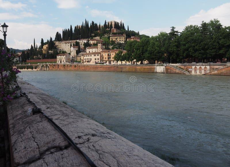 River Adige in Verona, Veneto, Italy royalty free stock image