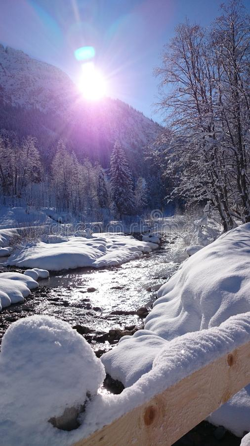 River Alps beautiluf Day love IT royalty free stock image