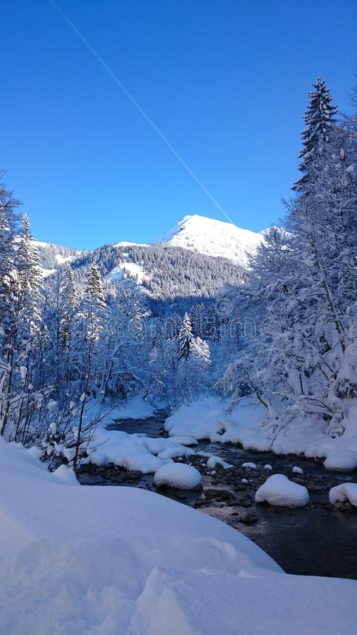 River Alps beautiluf Day love IT royalty free stock photography