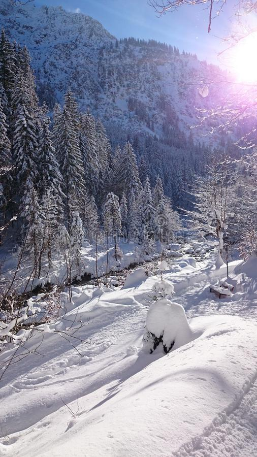 River Alps beautiluf Day love IT stock images