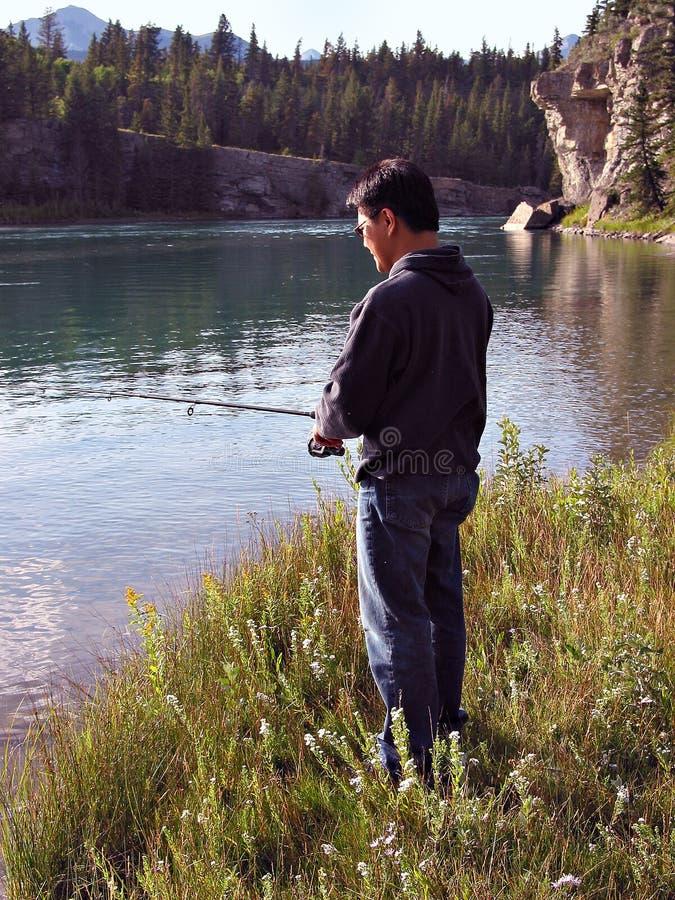 River Angler royalty free stock photos