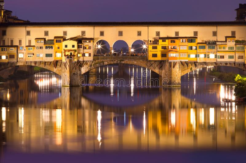 River Arno and Ponte Vecchio in Florence, Italy royalty free stock photos