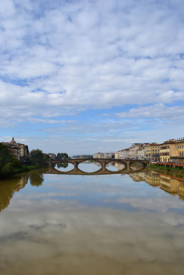 River Arno in Florence, Italy stock images