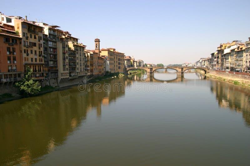 River Arno with P.te S.Trinita. Florence: River Arno with P.te S.Trinita stock images