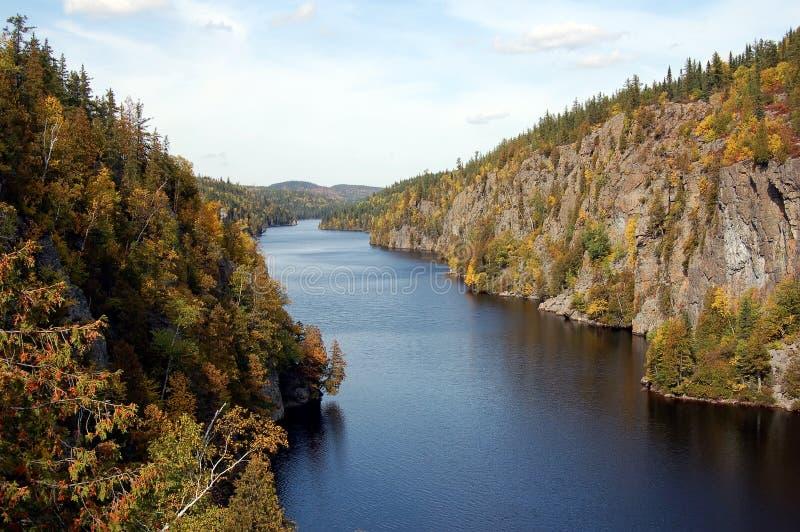 River in Autumn stock photo
