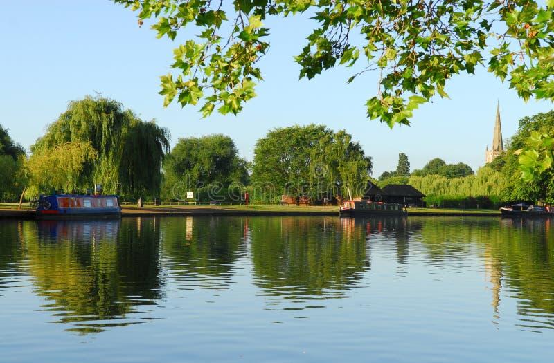 River Avon. Scenic river avon in Stratford royalty free stock photography