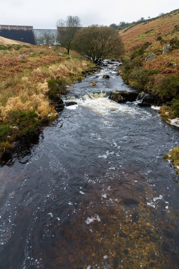 River Avon and Dam, Dartmoor. River Avon with dam in distance. Dartmoor, Devon, England, United Kingdom royalty free stock photography