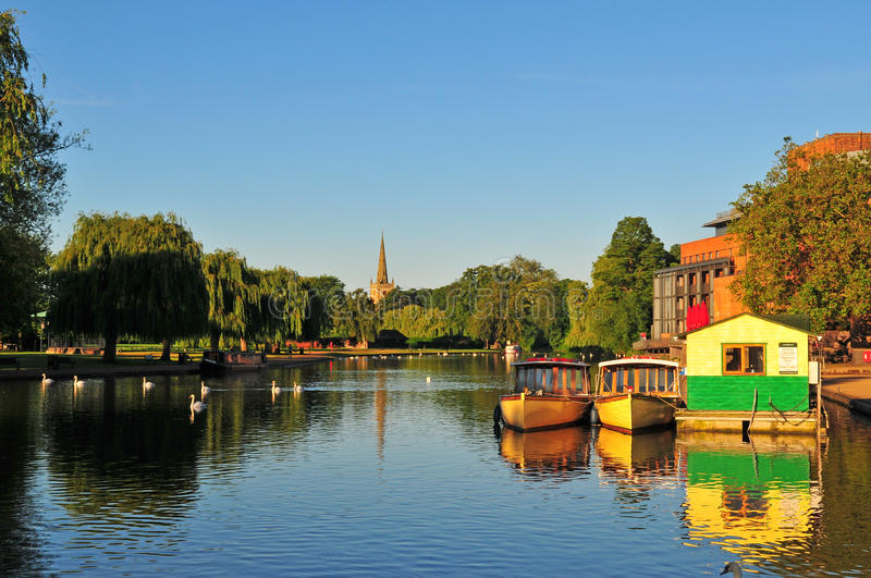 River Avon in Stratford. View across the River Avon in Stratford royalty free stock images