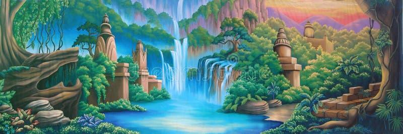 River backdrop royalty free illustration